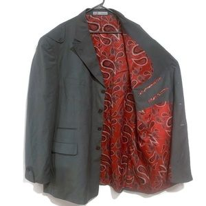 J. Anthony Brown 54L Sports Coat Jacket Gray Lined